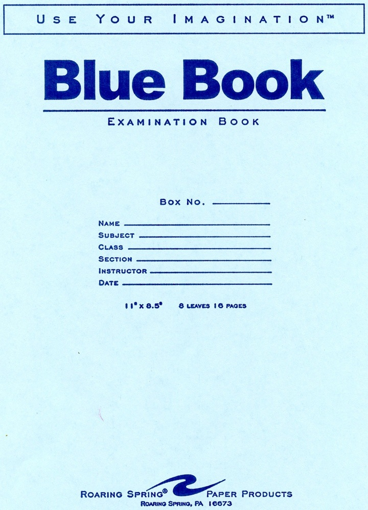 Image For BLUE BOOK-LARGE
