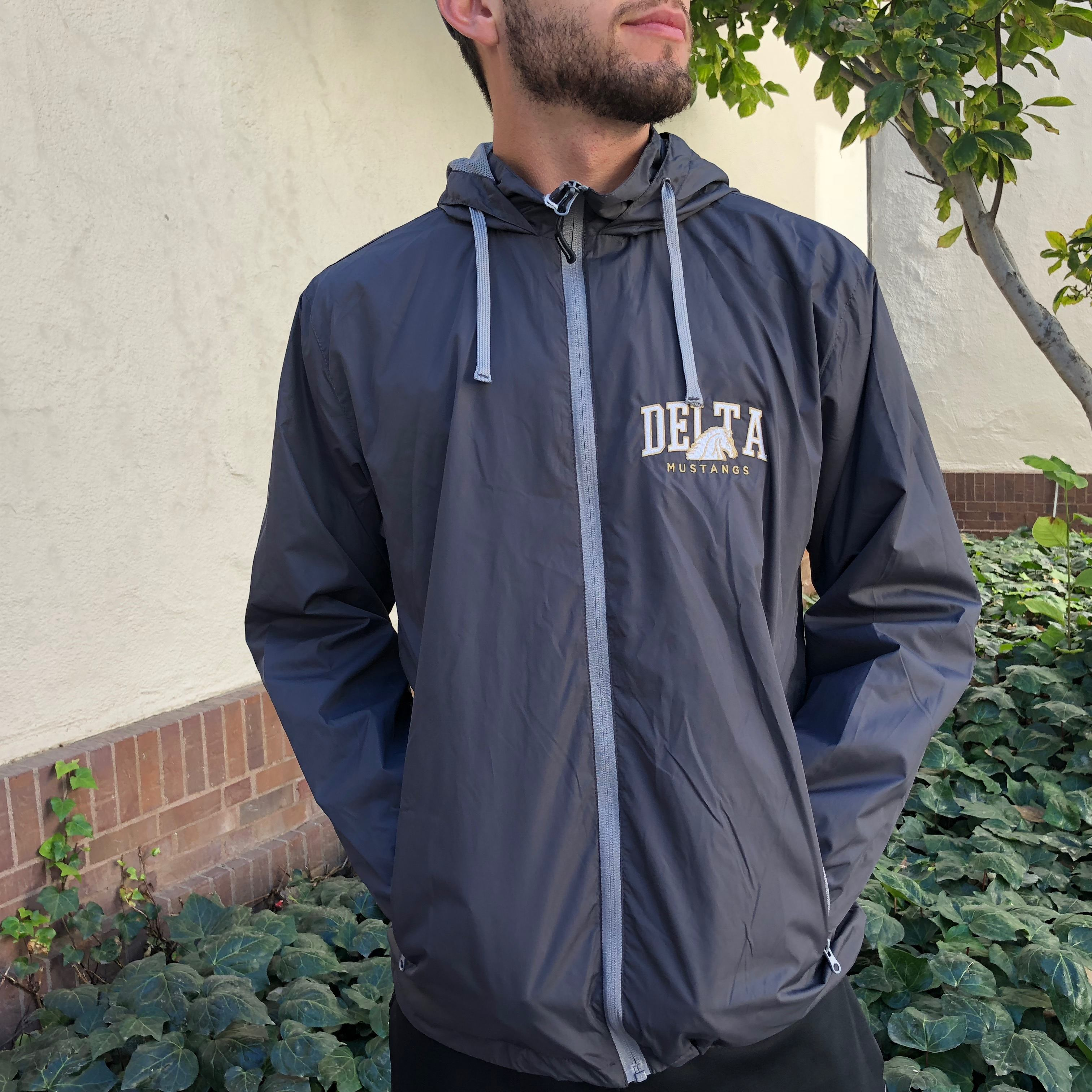 Image For Gray Men's Windbreaker