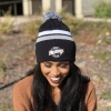Cover Image for BLACK/GRAY/WHITE BEANIE