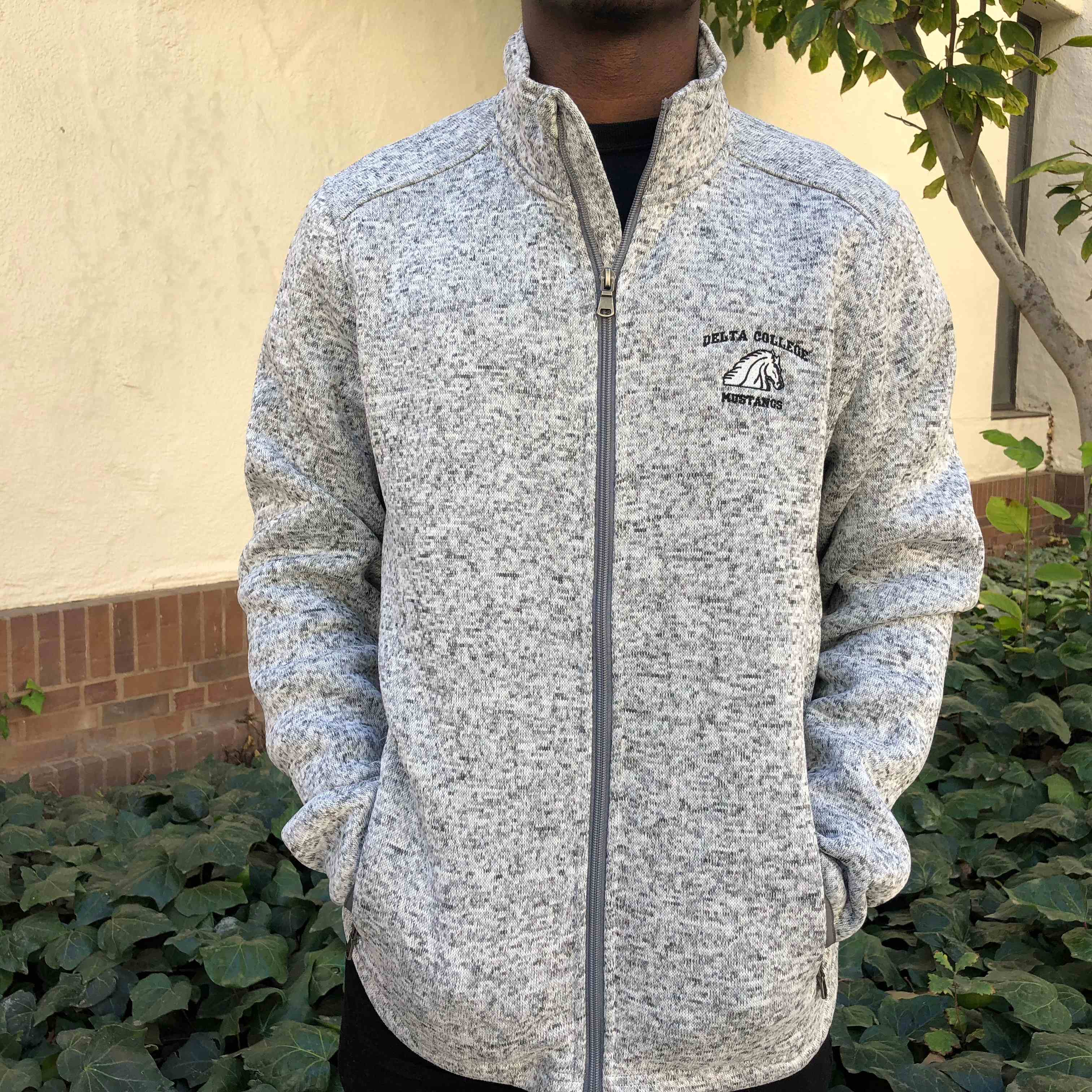 Image For BLACK/GRAY MENS FULL ZIP FLEECE