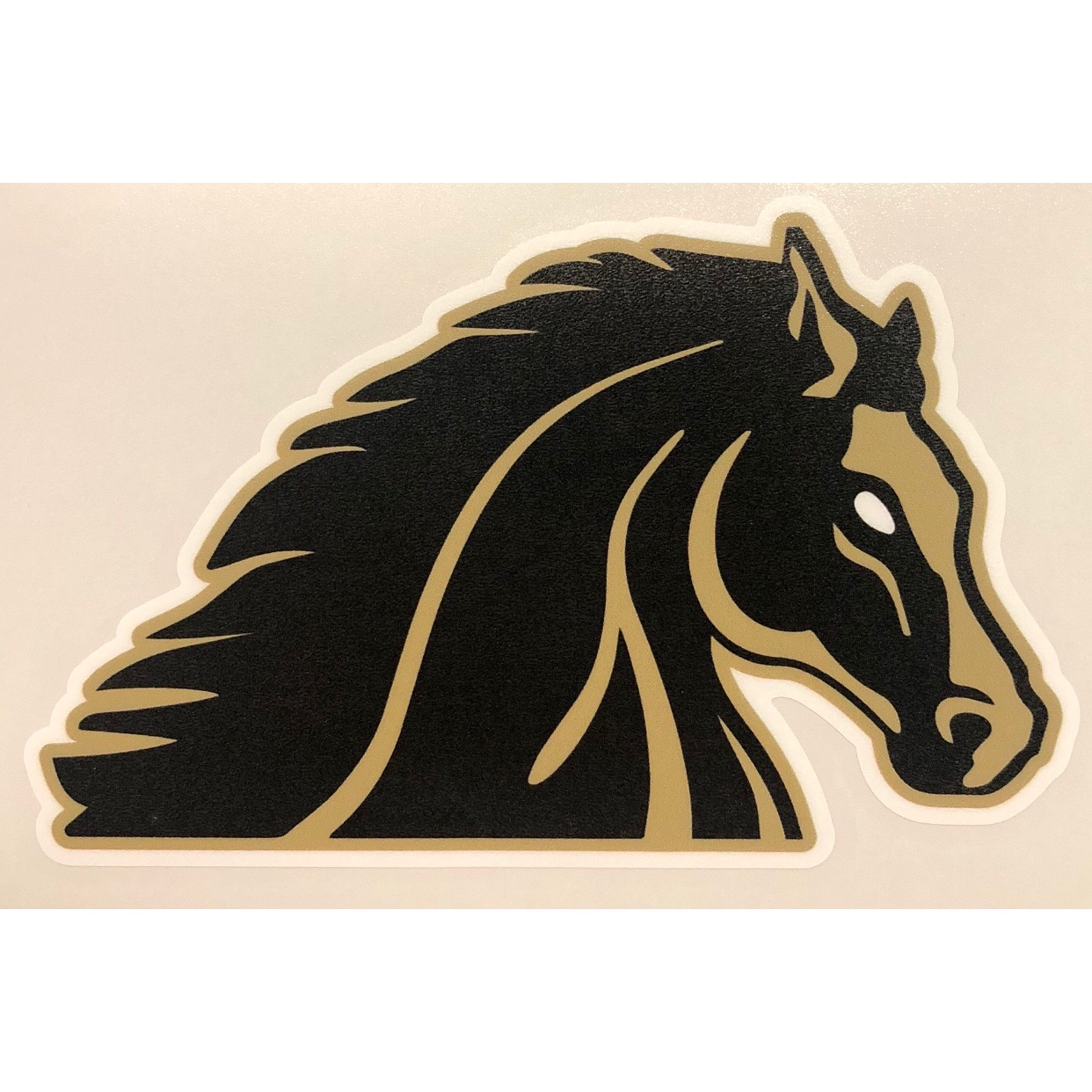 Image For BLCK/GOLD VINYL DECAL