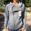 Cover Image for GRAY/BLACK WOMENS FLEECE MOTO JACKET