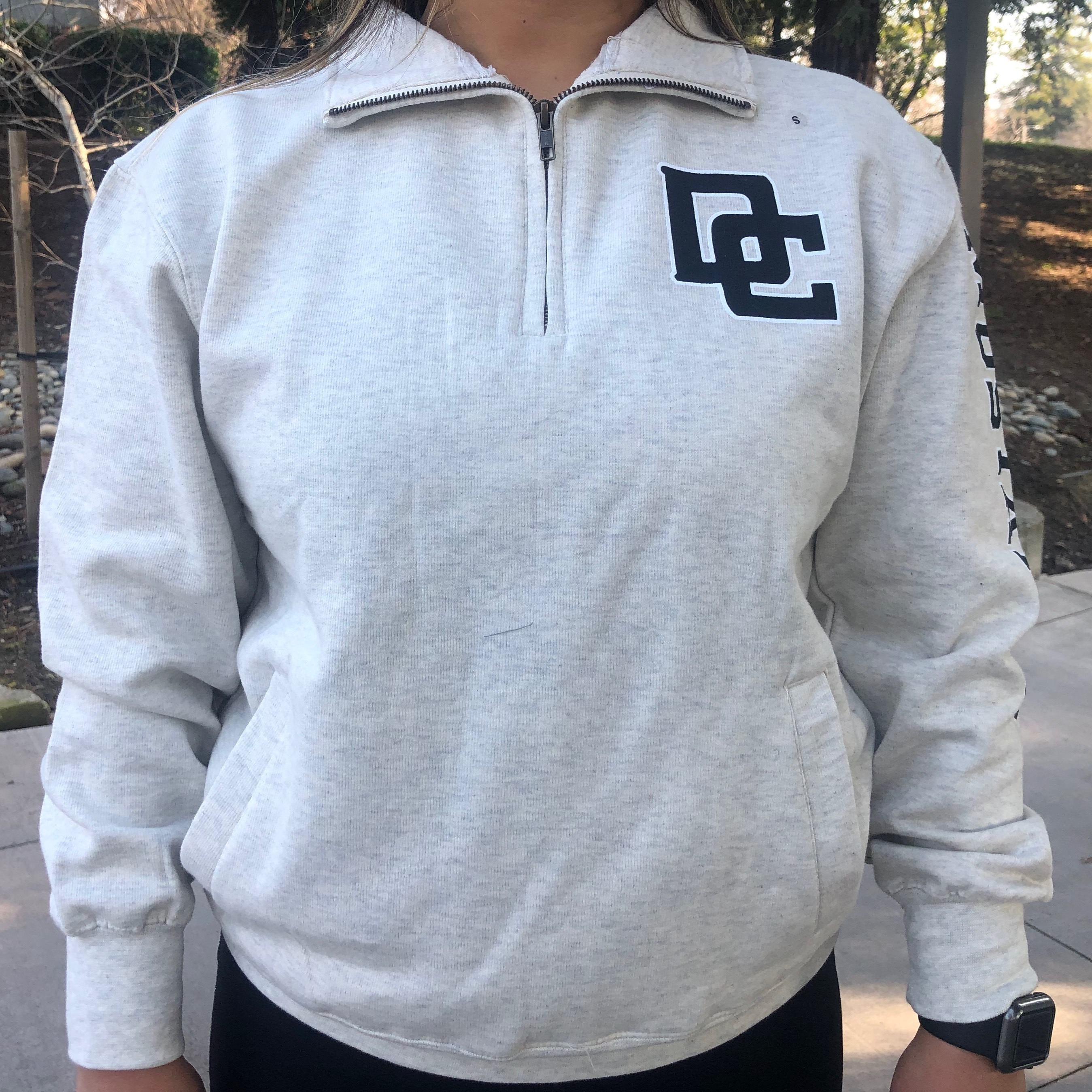 Cover Image For OATMEAL UNISEX 1/4 ZIP