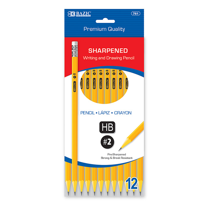 Image For BAZIC #2 PENCIL 12 PACK